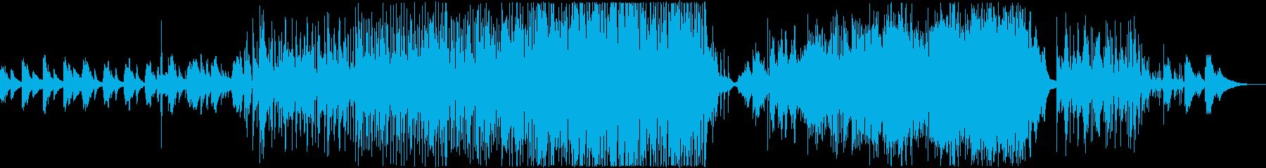 落ち着く雨のようなピアノトリオの再生済みの波形