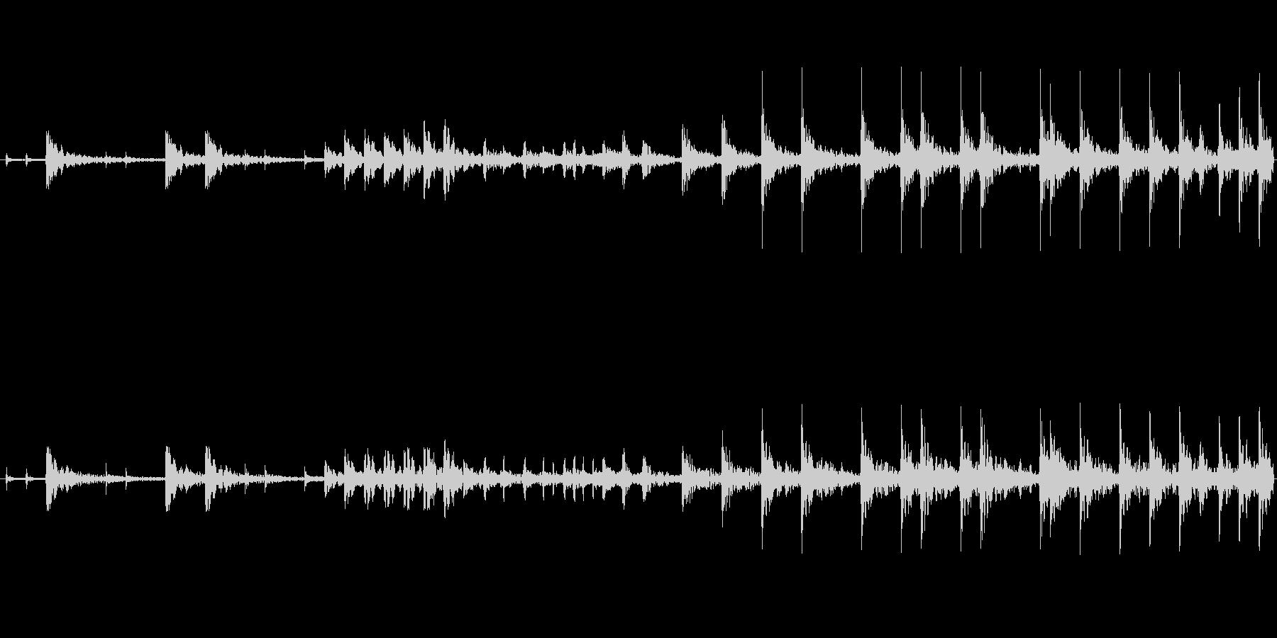 和太鼓のみのリバーブありのループ音源バ…の未再生の波形