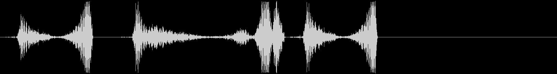 DJスクラッチ/ジュクジュク/A-02の未再生の波形