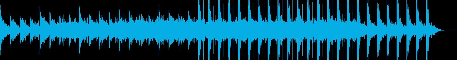 ゆったりとした草原の上で寝転ぶBGMの再生済みの波形
