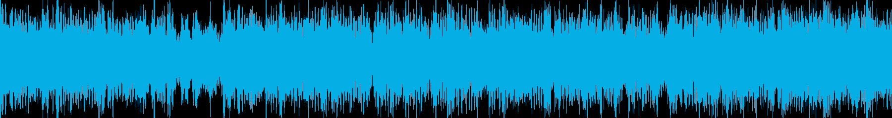 攻撃的なEギター ヘビーメタルサウンドの再生済みの波形