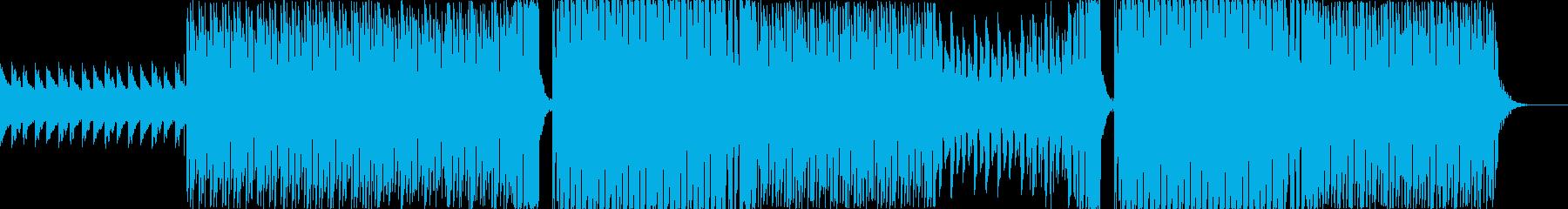 R&B要素を含んだEDMダンス曲の再生済みの波形