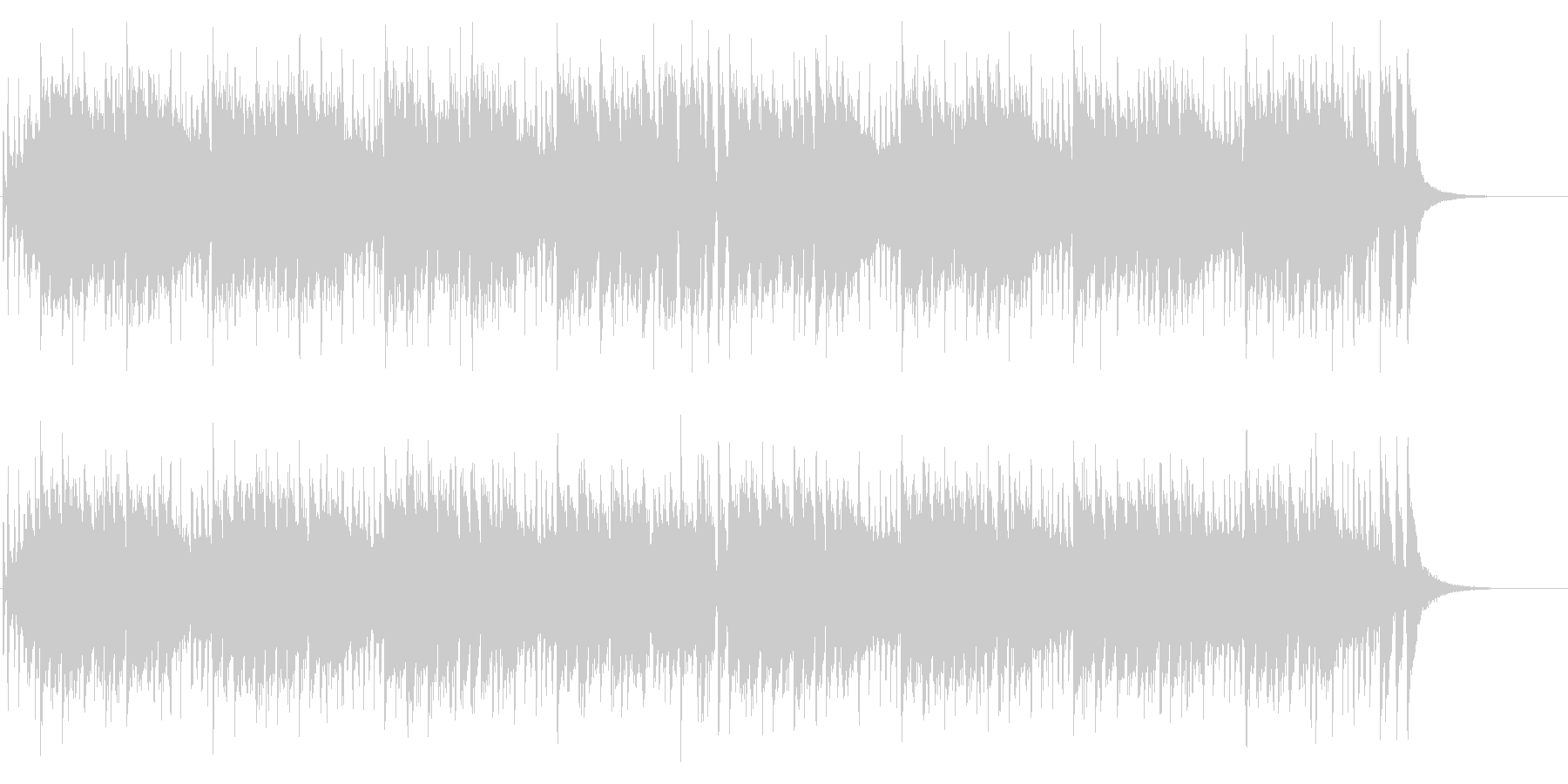 おバカなノリのコミカルパンクの未再生の波形