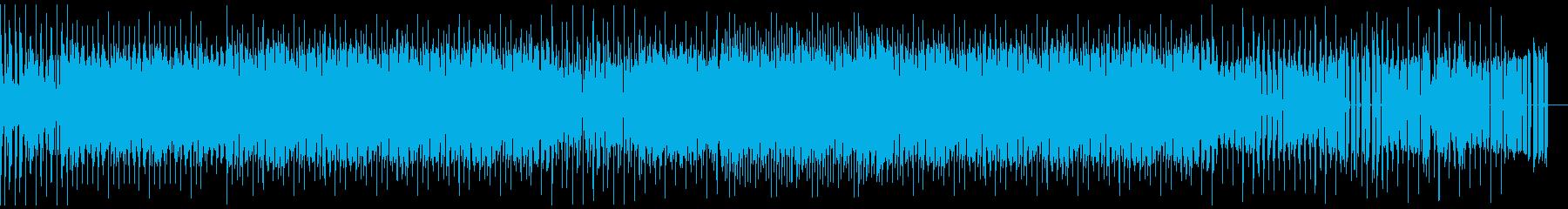 4つ打ちファンクテーマの再生済みの波形