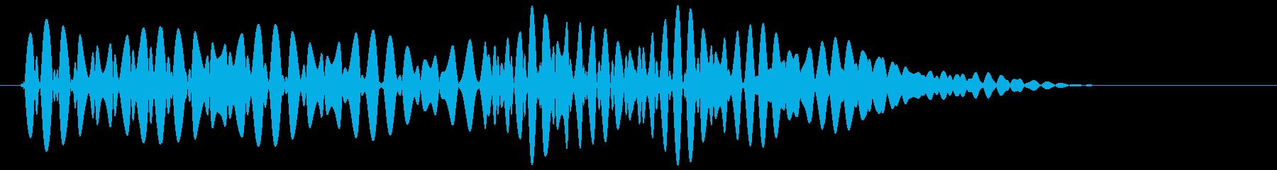 ポコッ(ボタン音・プッシュ音・決定音)の再生済みの波形