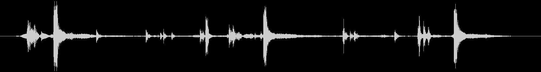 数取器(素早く)カタカタカタの未再生の波形
