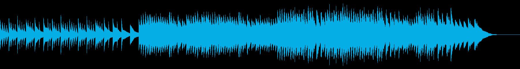 温もりを感じるイメージのピアノソロ曲の再生済みの波形