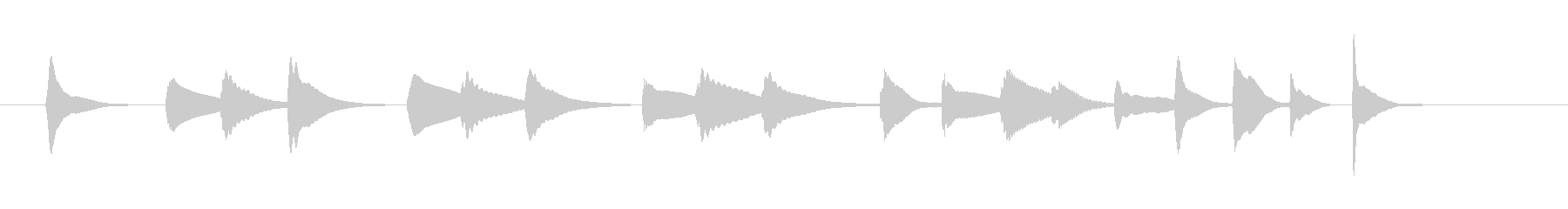 可愛いマリンバシリーズ17の未再生の波形