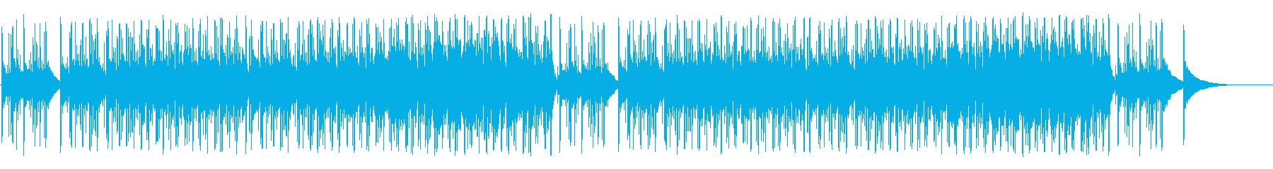 軽快なフレンチ系ポップ/ボサノバの再生済みの波形