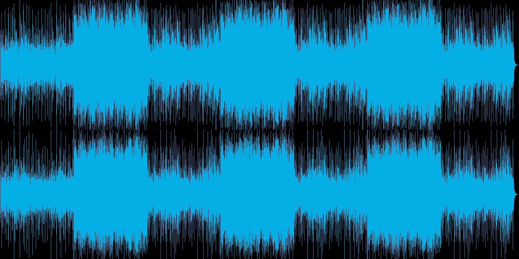 ギターとピアノがエモくて切ないロック調の再生済みの波形