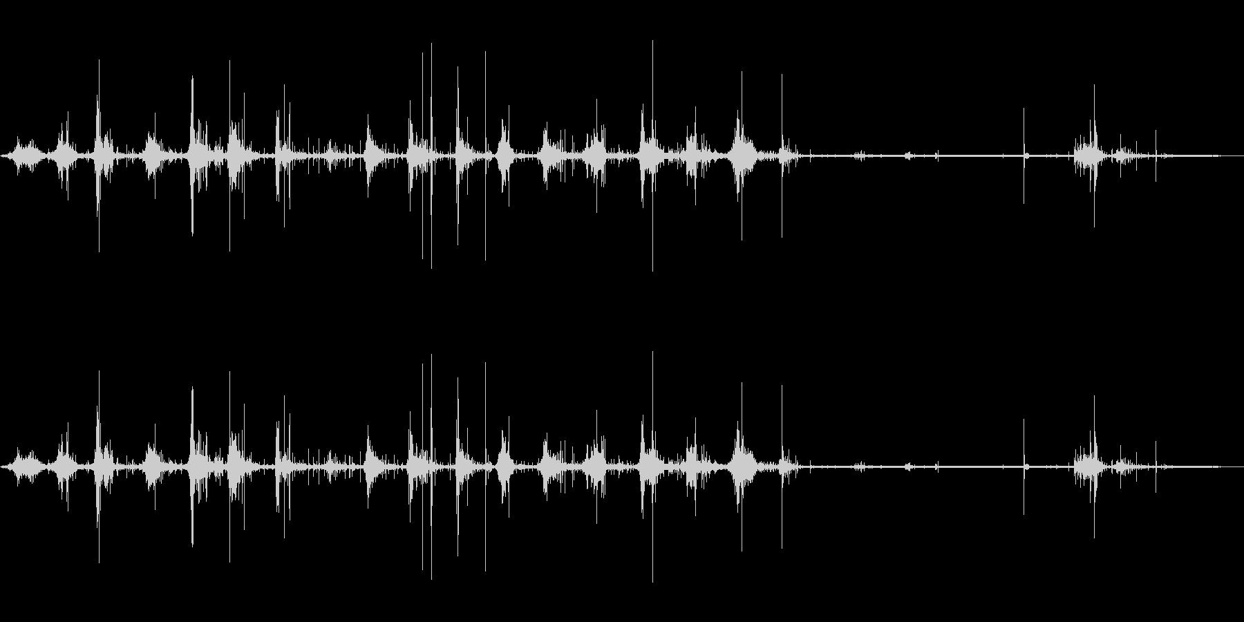 ウォークインダートの未再生の波形