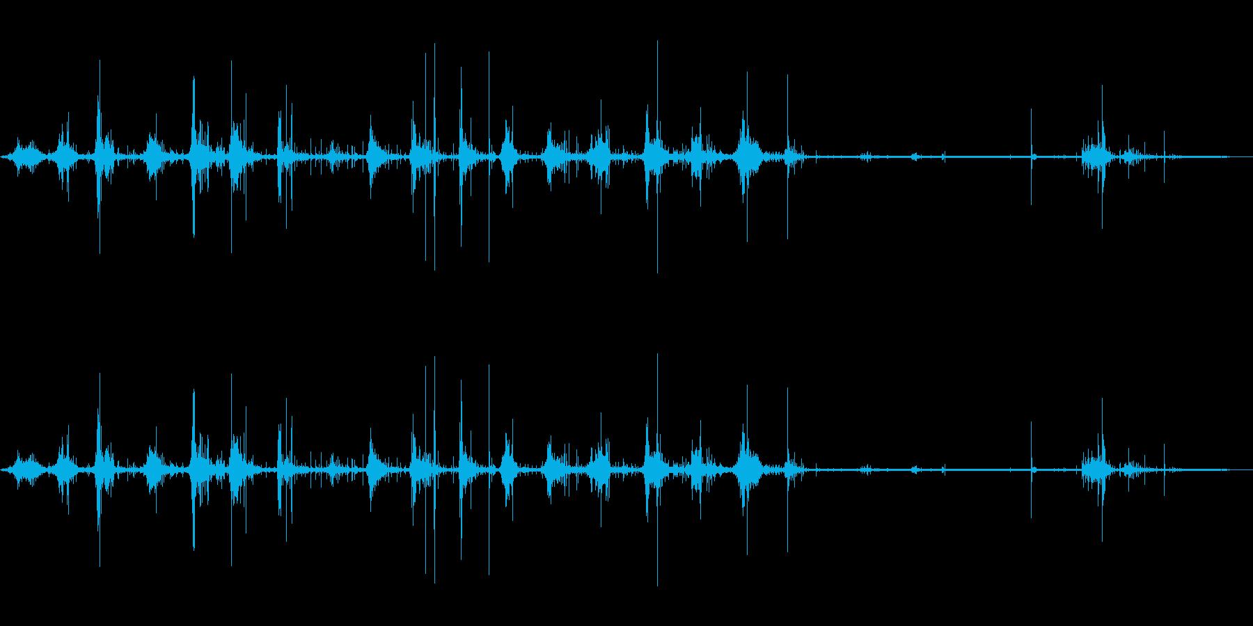 ウォークインダートの再生済みの波形