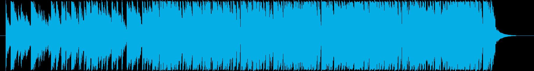煌びやかなピアノ音色入りテクノポップの再生済みの波形