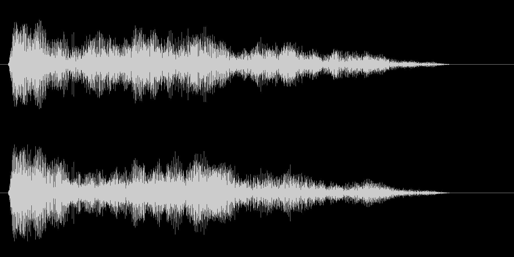 パァー(クラクション系音)の未再生の波形