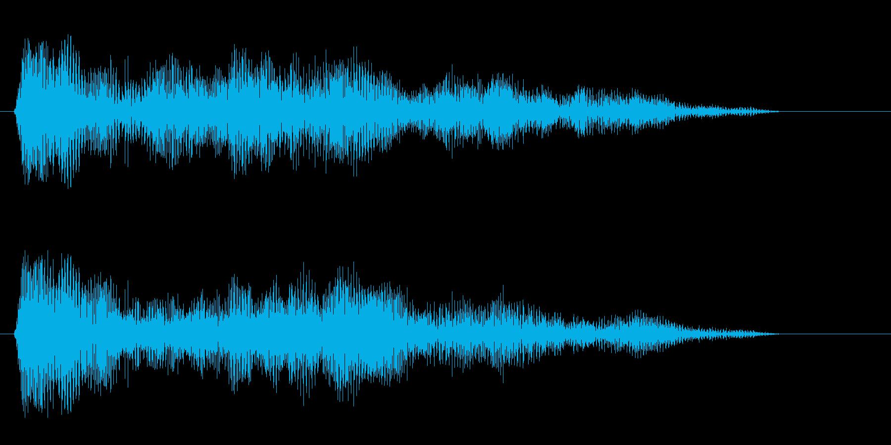 パァー(クラクション系音)の再生済みの波形