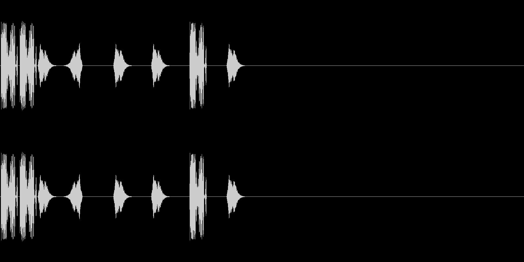DJスクラッチ/ターンテーブル/E-16の未再生の波形