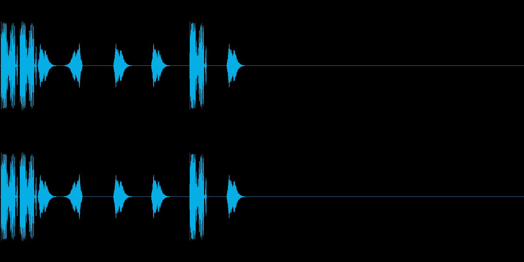 DJスクラッチ/ターンテーブル/E-16の再生済みの波形