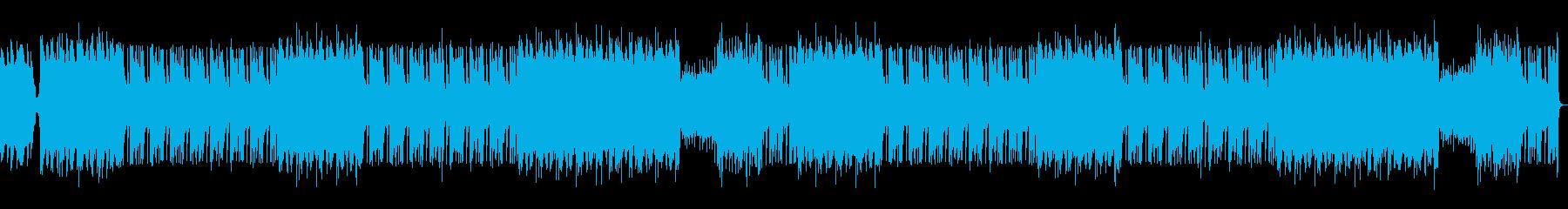 ダークなシーケンスBGMの再生済みの波形
