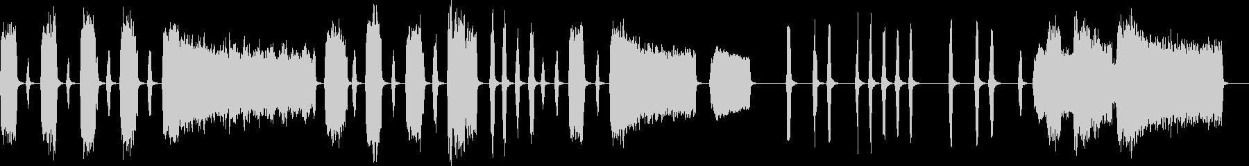 ほのぼのしたシンプルなインスト曲の未再生の波形