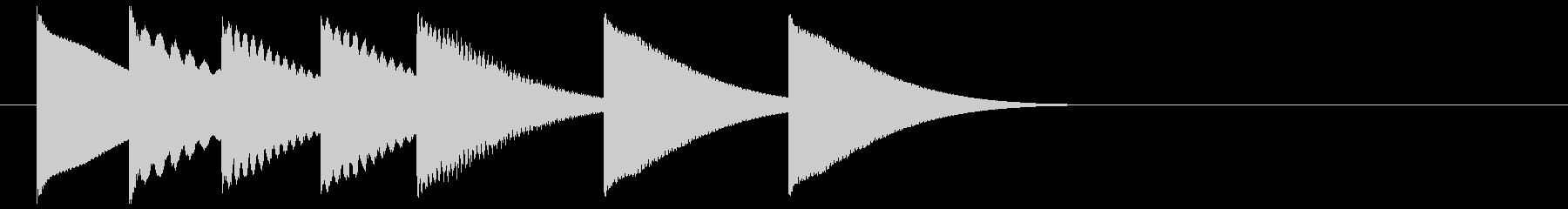 可愛いポップなベルのジングル③の未再生の波形