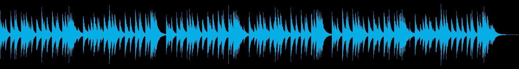 シューベルトの子守唄 72弁オルゴールの再生済みの波形