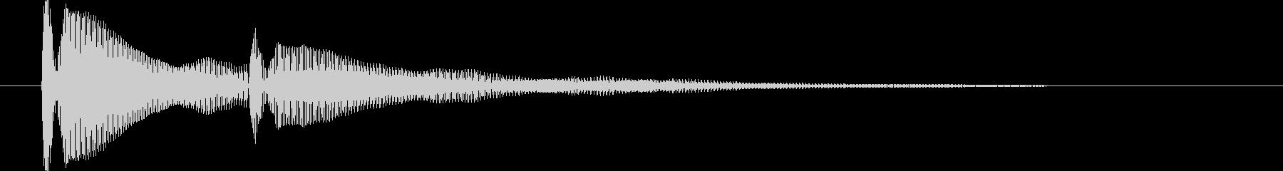 ピンポン【耳当たりのいい正解音】の未再生の波形