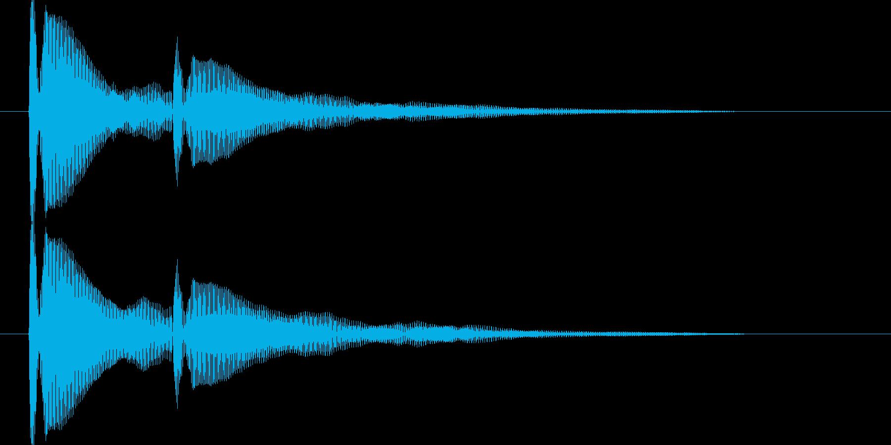 ピンポン【耳当たりのいい正解音】の再生済みの波形