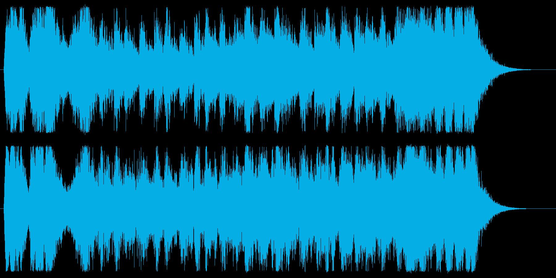 戦闘!和風のオーケストラジングルの再生済みの波形