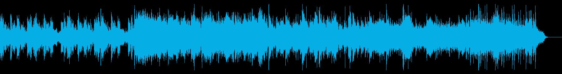 サイバーでスペーシーなシネマティック曲の再生済みの波形