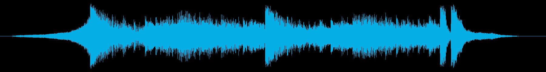 少し怪しさのあるロック-バンパーの再生済みの波形