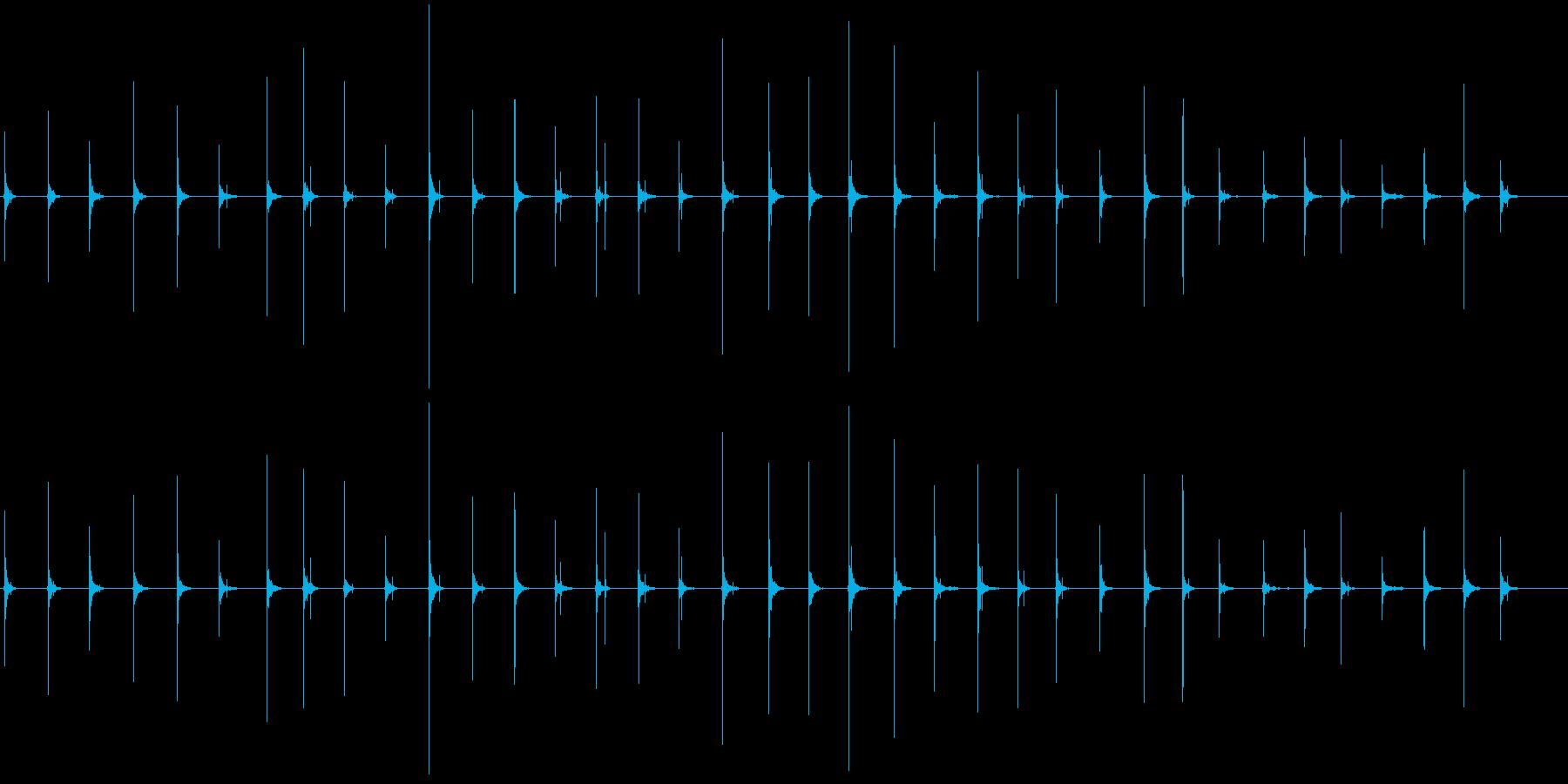 恐怖シリーズ8.ハイヒールで歩く音の再生済みの波形