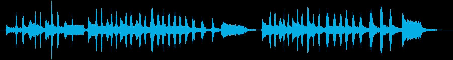 ワクワクするアコーディオンの小曲の再生済みの波形