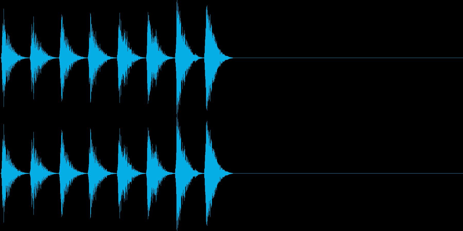 ノイズ ピッチアップ 16ビートの再生済みの波形