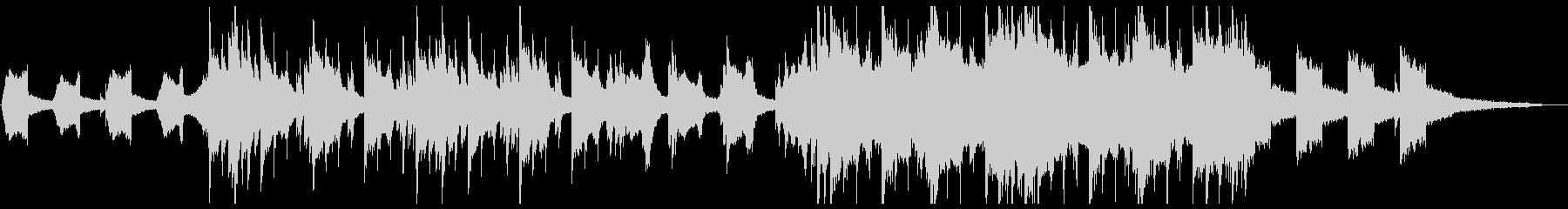 ピアノ中心の儚さのあるエレクトロの未再生の波形