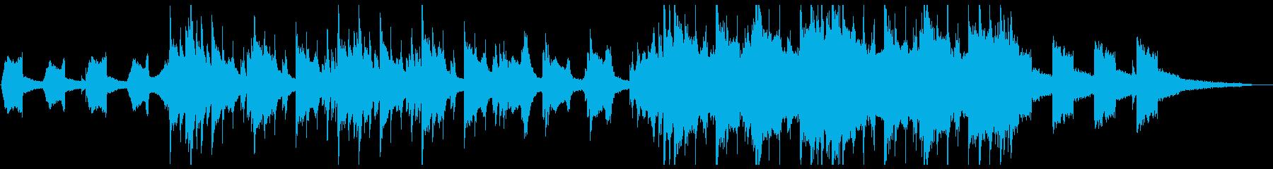 ピアノ中心の儚さのあるエレクトロの再生済みの波形