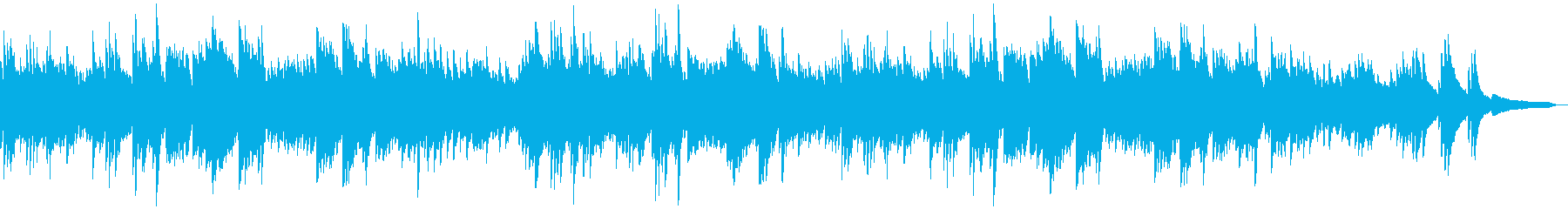 情緒的でメランコリックなピアノソロの再生済みの波形