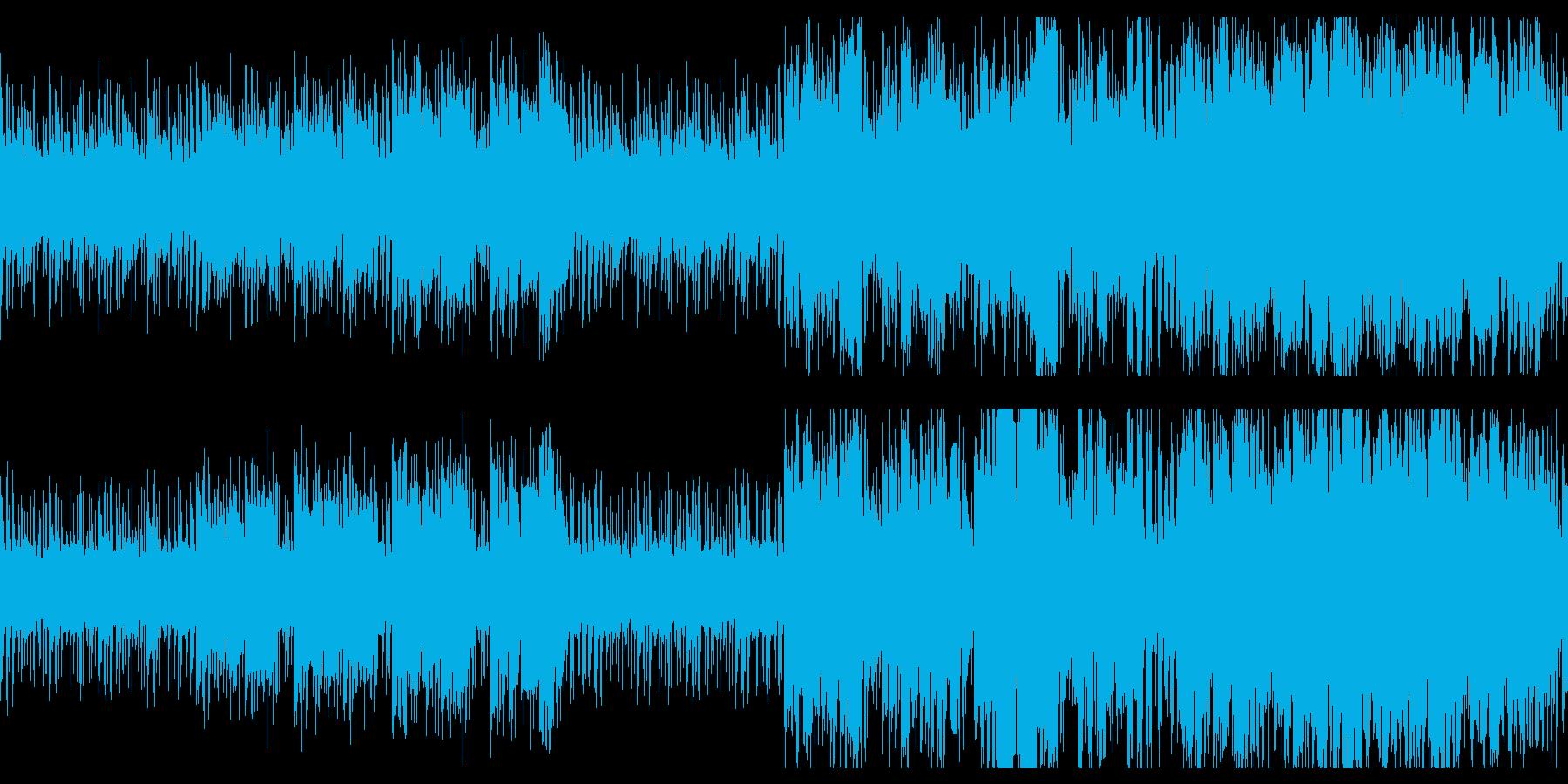 ジャングルをイメージした不思議なBGMの再生済みの波形