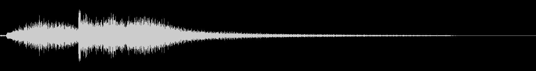 和風な琴のジングル 4の未再生の波形
