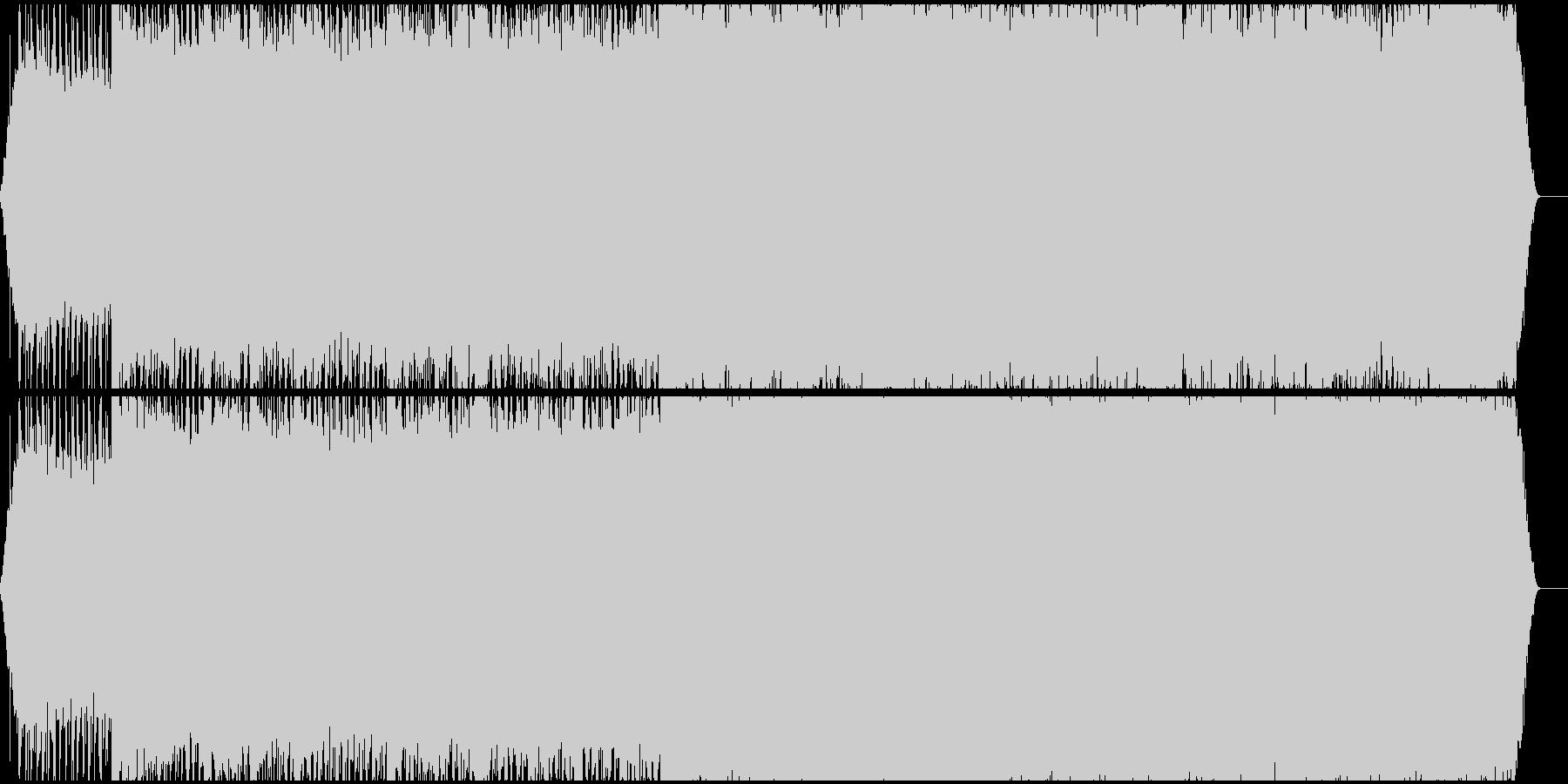 轟音ノイズピアノの未再生の波形