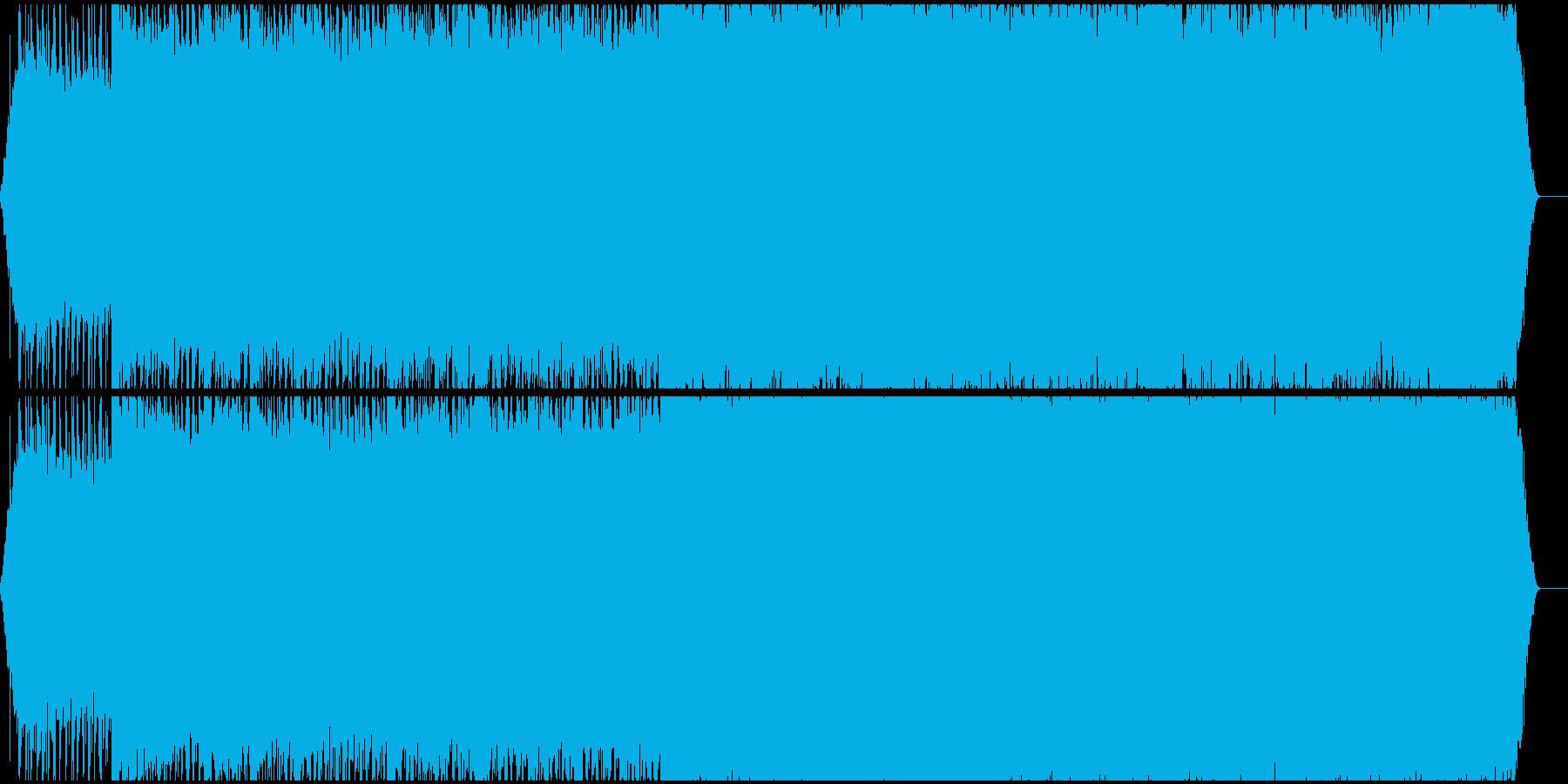 轟音ノイズピアノの再生済みの波形