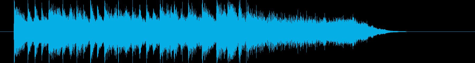 清々しくトランペットが印象的なBGMの再生済みの波形