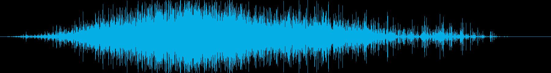 ササー(レインスティック)Aの再生済みの波形