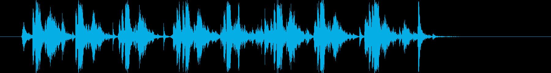 タイプライターの音(強化版)8連打の再生済みの波形