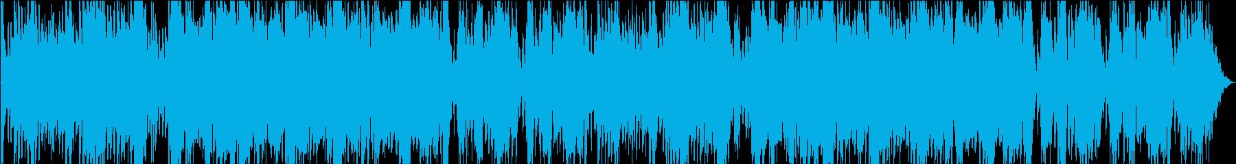 壮大な戦闘曲風オーケストラの再生済みの波形