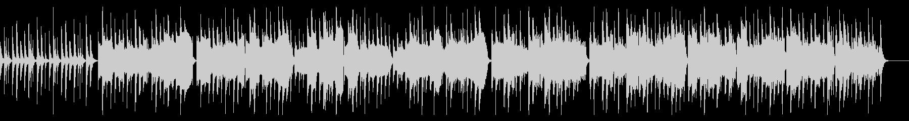 日常系アニメの会話シーンのような曲の未再生の波形