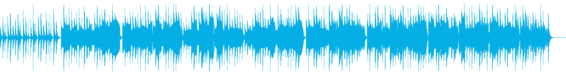 日常系アニメの会話シーンのような曲の再生済みの波形
