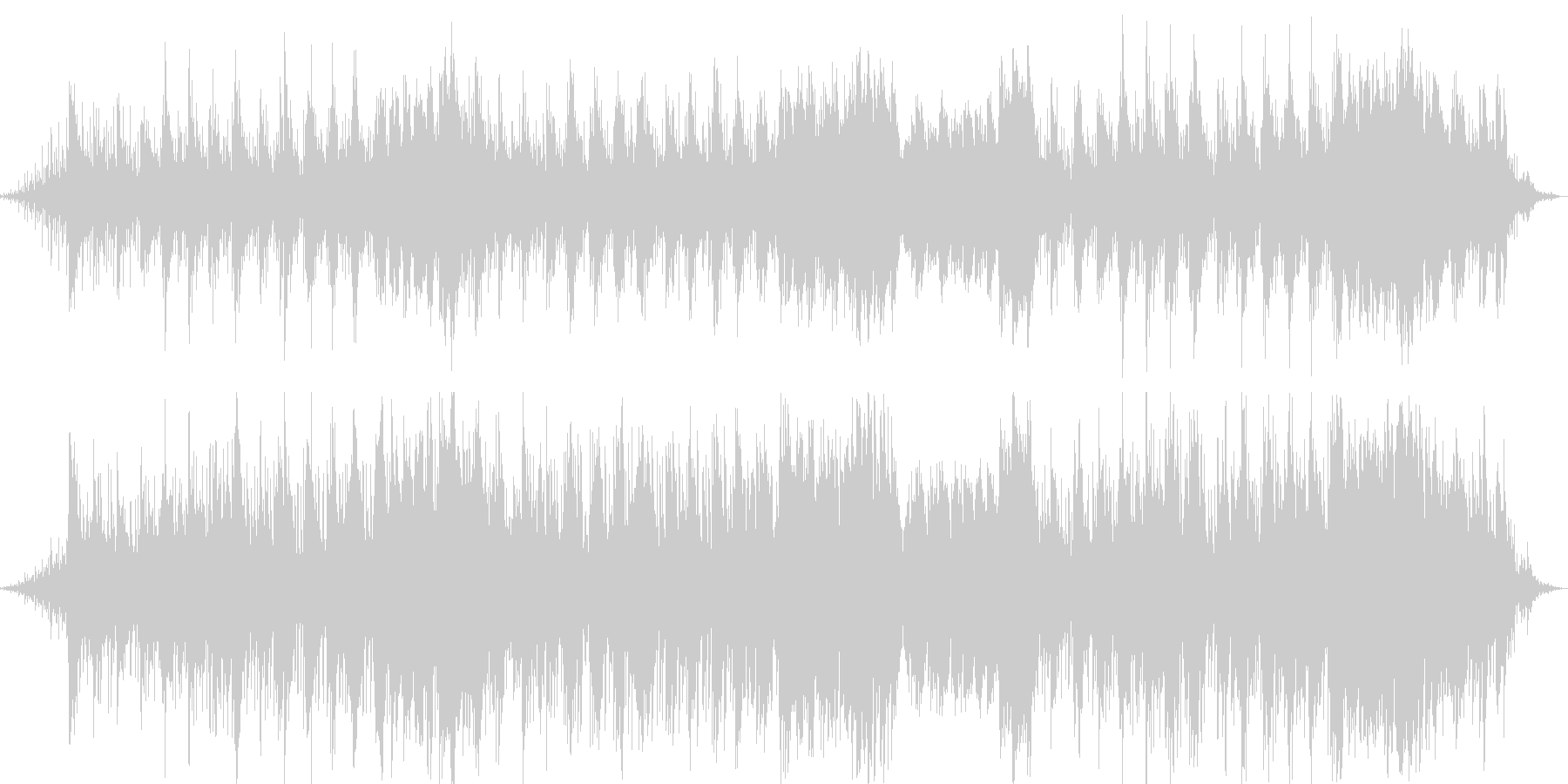 魅惑的なイージーリスニング曲の未再生の波形