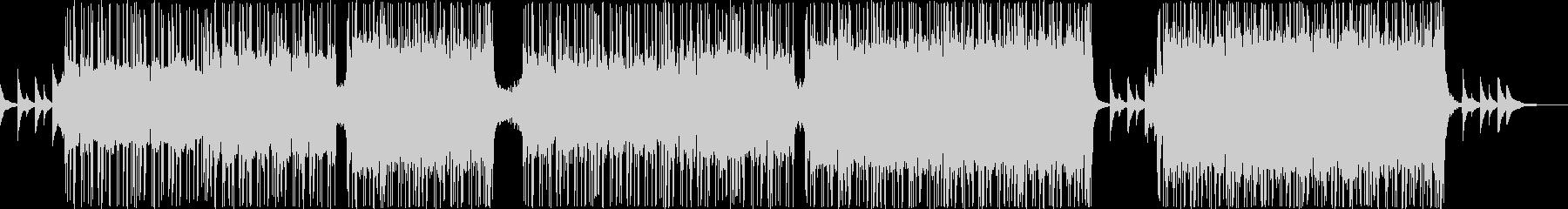 エレクトロニック・ポップなBGMの未再生の波形