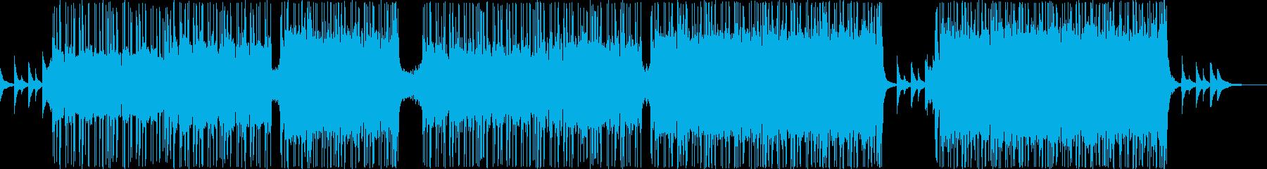 エレクトロニック・ポップなBGMの再生済みの波形