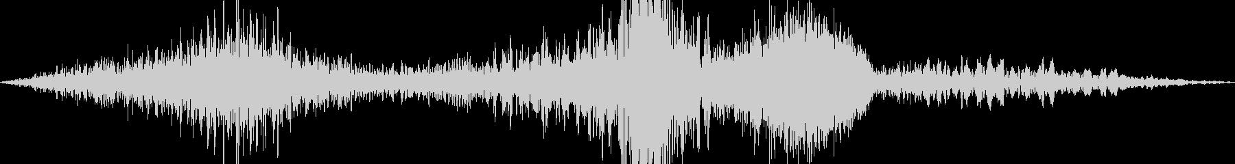「ヒュー ヒュルヒュル ヒューン」の未再生の波形